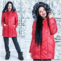Женская стильная теплая зимняя куртка