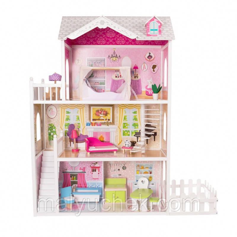 Будинок для ляльок Ecotoys- ляльковий будинок