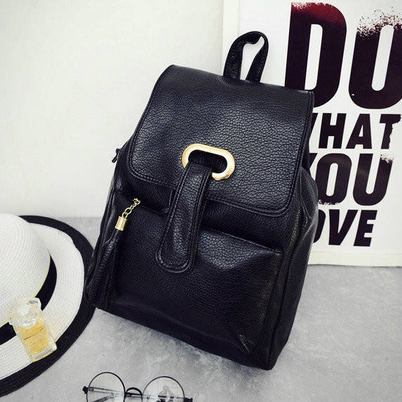 Женский однотонный рюкзак