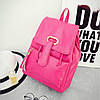 Женский однотонный рюкзак, фото 4