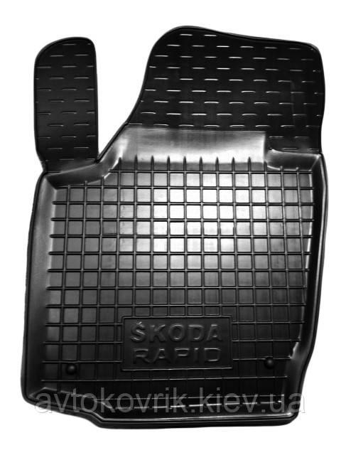 Полиуретановый водительский коврик в салон Skoda Rapid 2012- (AVTO-GUMM)