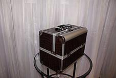 Кейс для мастеров красоты, коричневый в металле
