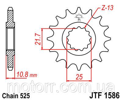 Зірка передня JT JTF1586.17