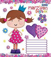 """Тетрадь 12 листов клетка """"1 Вересня"""" """"Marzipan Принцесса"""""""