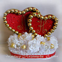 Сердце из конфет та789