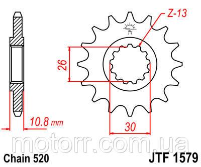 Зірка передня JT JTF1579.17