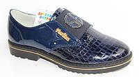 Модные подростковые лаковые туфли на платформе для девочки, р. 32-37