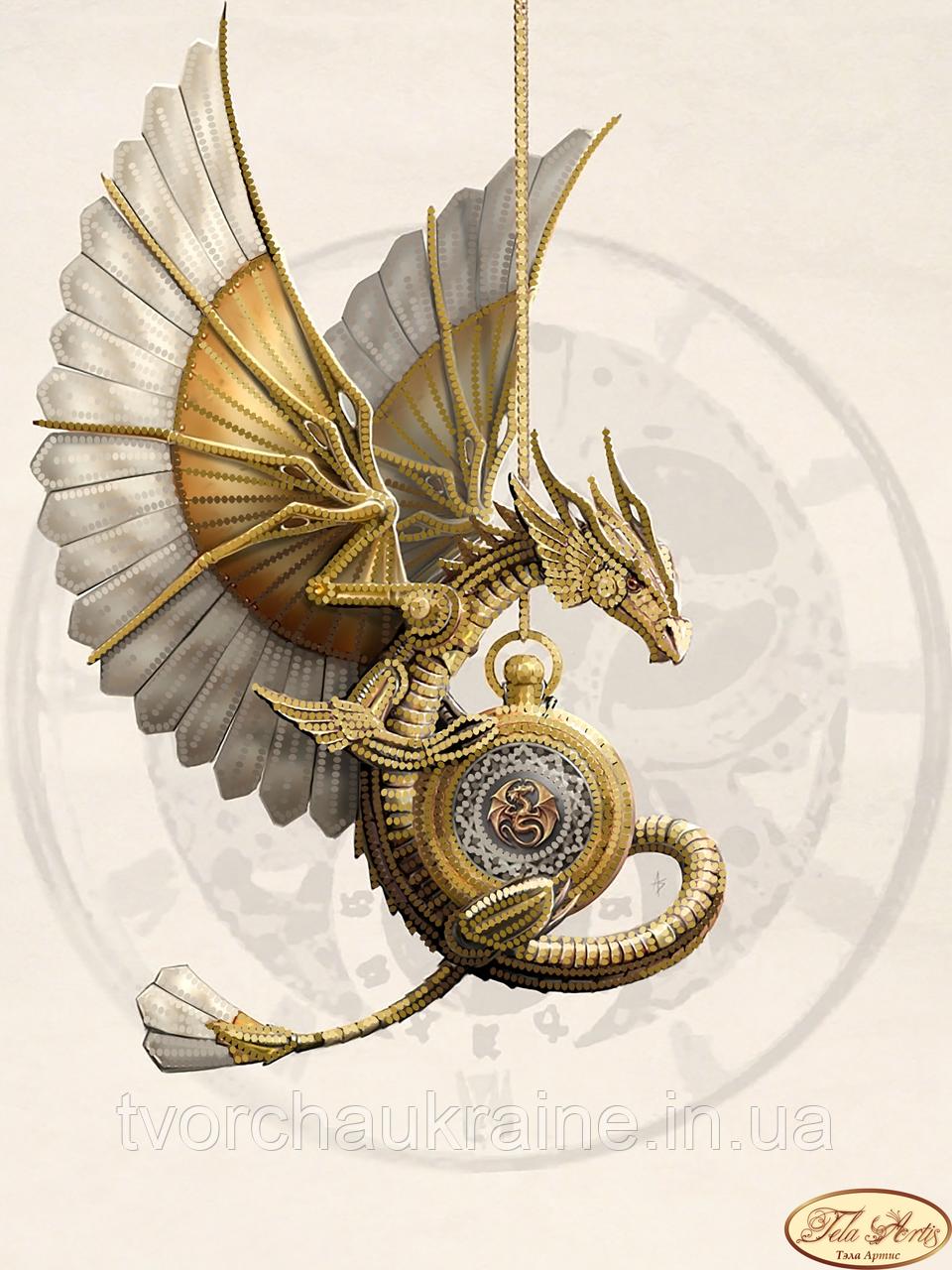 Схема для вышивки бисером Стимпанк. Дракон