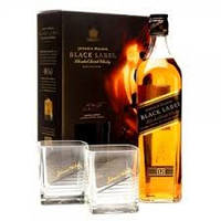 Виски Бленд Шотландия Джони Уокер Блек Лейбл 0,7л с бокалами Johnnie Walker Black Label