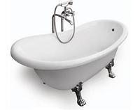 Ванна BESCO OTYLIA 160x77 з ніжками хром