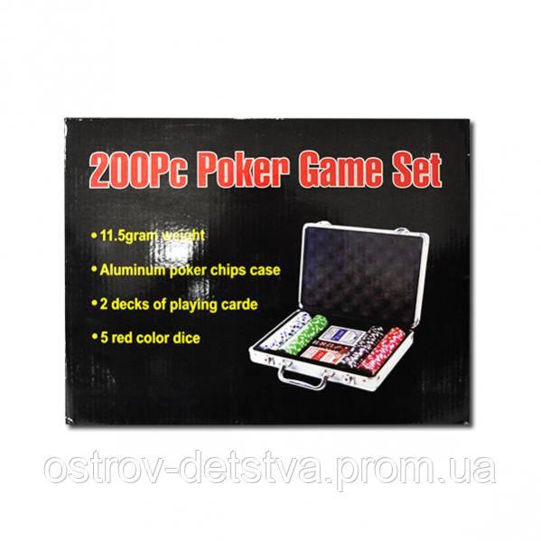 """Набор для покера, чемодан 200 фишек - """"Остров Детства"""" Интернет магазин:Канцтовары и Игрушки.Для послушных детей и заботливых родителей! в Одессе"""
