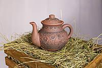"""Чайник """"Орнамент""""  из экологически чистой глины"""