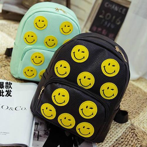 """Рюкзак для девушки из кожзама """"Смайл"""""""