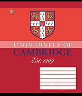 """Тетрадь 12 листов клетка """"З.У."""" """"Cambridge"""""""