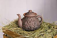 """Чайник """"Українське село"""" из экологически чистой глины"""