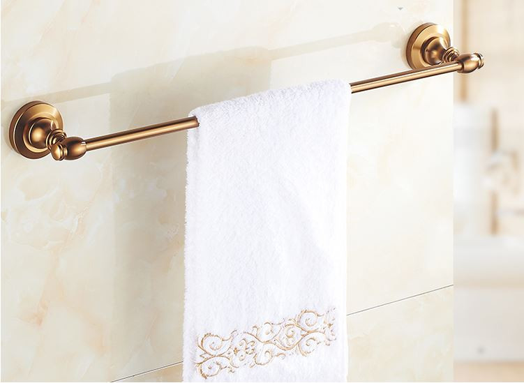 Вешалка для полотенец на кухню или в ванную комнату бронза настенная