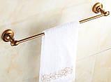 Вешалка для полотенец на кухню или в ванную комнату бронза настенная, фото 2