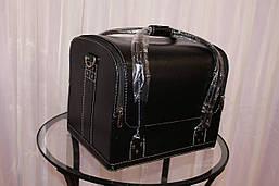 Кейс для візажистів, чорний матовий, фото 2