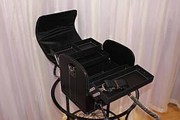 Кейс для візажистів, чорний матовий, фото 3
