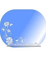 Зеркало для ванной комнаты с декором цветок (50х60 см)