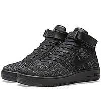 Оригинальные  кроссовки Nike  Air Force 1 Flyknit Black & White