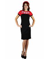 Красное вышитое платье «День-Ночь» М-1020-3, фото 1