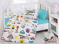 Комплект постельного белья для новорожденных Cotton Box Mutlu BebekBeyaz