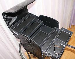 Кейс для мастеров красоты, черный лаковый, фото 3