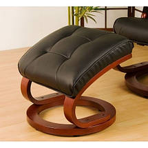 Массажное кресло + пуф STILISTA с подогревом черное, фото 3