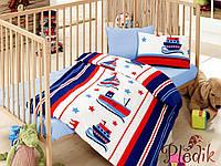 Комплект постельного белья для новорожденных Cotton Box Masal Denizci Mavi