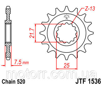 Звезда передняя JT JTF1536.14