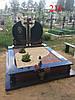 Подвійний пам'ятник під поховання з граніту і габро