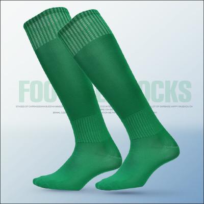 Гетры футбольные детские однотонные (зеленые)