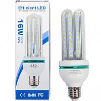 Лампа LED 16W прозрачная, холодный 180*60мм