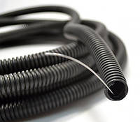 Лёгкая черная ПЕВД гофротруба с протяжкой Ø20 мм, DKC