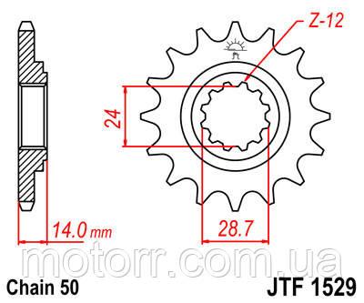 Звезда передняя JT JTF1529.17
