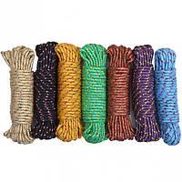 Веревка цветная D 6мм 10м
