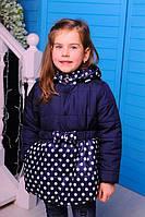Куртка детская Весенняя «Бусинка», джинс, 98-116 рост
