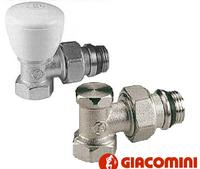 Комплект  радіаторних кранів Giacomini