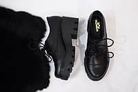 Женские туфли-лоферы от TroisRois из натуральной турецкой кожи на шнурках