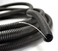 Лёгкая ПЕВД гофротруба чёрного цвета с протяжкой Ø32 мм, DKC