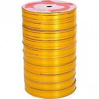 Лента с золотыми полосами 16мм*15м желтая, 10 штук