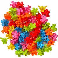 Заколка-крабик цветочек 100 штук 951