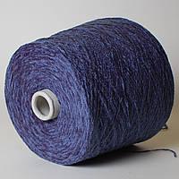 Пряжа-велюр, синий (100% акрил; 600 м/100 г)