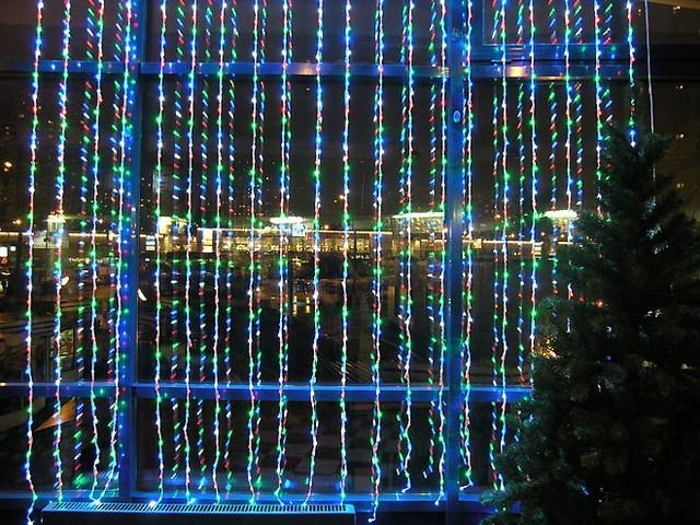 Штора неоновая, 500 лампочек, 3,5х1,5 м