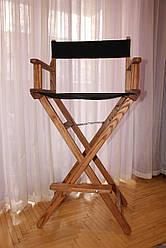 Кресло режиссерское, для визажиста, раскладное коричневое.