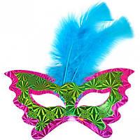Маска 3D голограмма с перьями