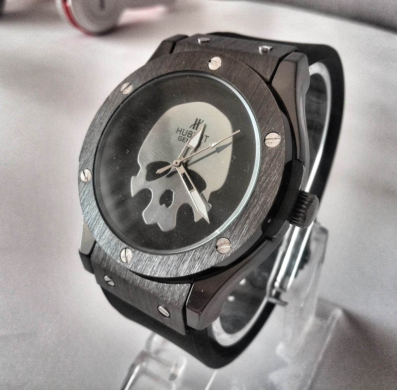Мужские часы Hublot Skull Bang (replica) - Интернет магазин Ocloc k в Киеве e81014becf77a