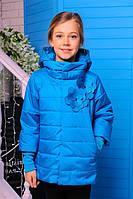 Куртка детская Весенняя «Миледи», голубая бирюза, 122-152 рост