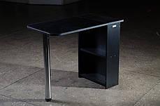 Стіл для манікюру, розкладний, чорний